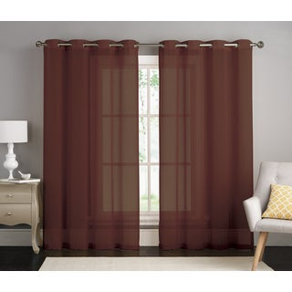 Tina by Artistic Linen Grommet-top Window Curtain Panel