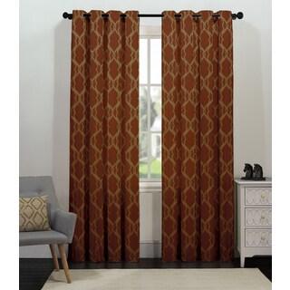 Artistic Linen Tangier Grommet-top Window Curtain Panel