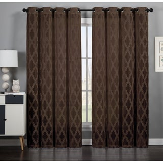 Michelle by Artistic Linen Velvet Grommet-top Window Curtain Panel