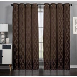 Artistic Linen Michelle Velvet Grommet-top Window Curtain Panel