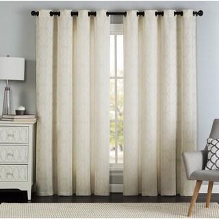 Artistic Linen Lawrence Grommet-top Window Curtain Panel