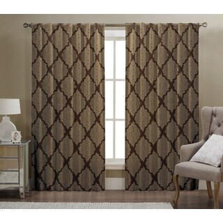 Verona by Artistic Linen Rod-pocket Back-tab Window Curtain Panel Pair