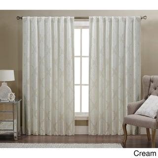 Verona by Artistic Linen Rod-pocket Back-tab Window Curtain Panel Pair