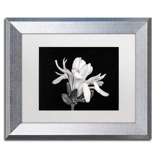 Pierre Leclerc 'Magnolia Flower' Matted Framed Art