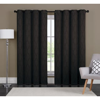Dakota by Artistic Linen Energy-efficient Grommet-top Window Curtain Panel Pair