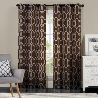 Corey by Artistic Linen/Cotton-blend Grommet-top Window Curtain Panel Pair