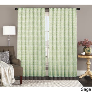 Annalise by Artistic Linen Backtab Jacquard Window Curtain Panel Pair