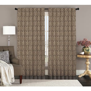 Annalise by Artistic Linen Backtab Jacquard Window Curtain Panel Pair