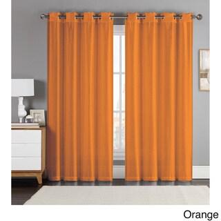 Artistic Linen Eastern Jacquard Grommet-top Window Curtain Panel