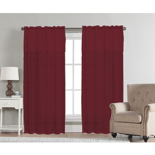 Aubrey by Artistic Linen Rod-pocket Window Curtain Panel and Valance