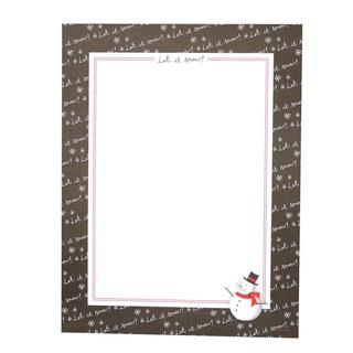 Chalk Let it Snow Snowman Stationery (Case of 80)