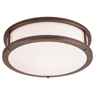 Access Lighting Conga 3-light Bronze19-inch Flush Mount