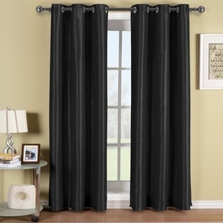 Elegant Comfort Polyester Triple-layer Solid Blackout Grommet Panel Pair