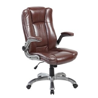 9002-2-BR Mid-back Modern Computer PU Leather Office Executive Chair