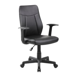 Modern Ergonomic PU Mid-back Executive Computer Desk Task Office Chair