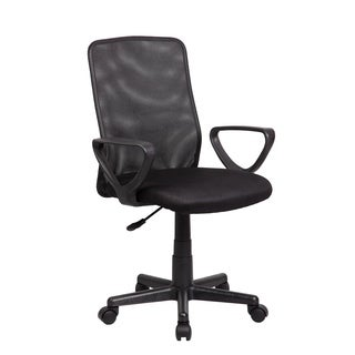 Modern Ergonomic Black Mesh, Metal and Plastic Mid-back Executive Computer Desk Chair