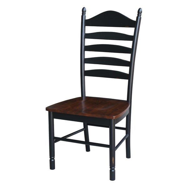 Beau International Concepts Hand Rubbed Finish Wooden Tall Ladderback Chairs  (Set Of 2)
