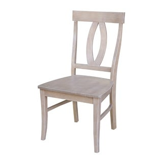 Cosmo Washed-finished Parawood Chairs (Set of 2)