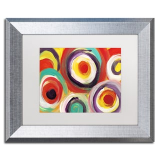 Amy Vangsgard 'Bright Bold Circles 2' Matted Framed Art