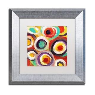 Amy Vangsgard 'Bright Bold Circles Square 1' Matted Framed Art