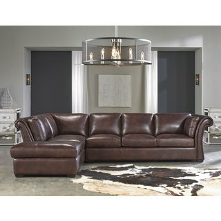 Lazzaro Leather Angelina Rustic Savauge 2-Piece Sectional Sofa