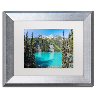 Pierre Leclerc 'Turquoise Lake' Matted Framed Art