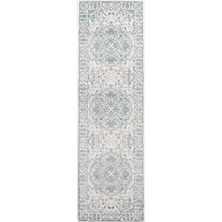 "Momeni Brooklyn Heights Polyester and Polypropylene Ivory Runner - 2'3"" x 7'6"" Runner"