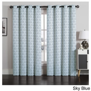 Artistic Linen Tanya Grommet-top Jacquard Window Curtain Panel