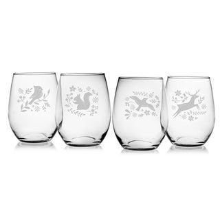 Woodland Winter Stemless Wine Glass (Set of 4)
