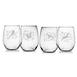 Woodland Winter Stemless Wine Glass (Set of 4)