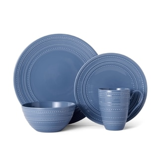 Mikasa Vella Blue Stoneware 4-piece Dinnerware Set