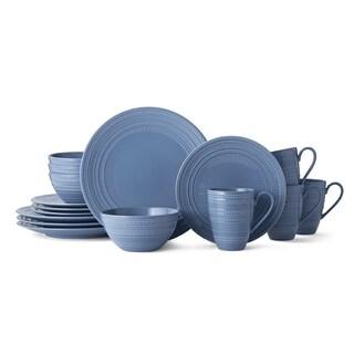 Mikasa Vella Blue Stoneware 16-piece Place Setting