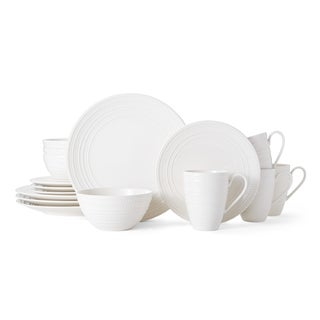 Mikasa Vella White 16-piece Place Setting  sc 1 st  Overstock.com & Stoneware Dinnerware For Less | Overstock