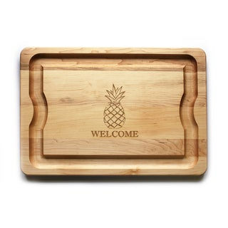 J.K. Adams Pineapple Welcome BBQ Brown Maple Carving Board