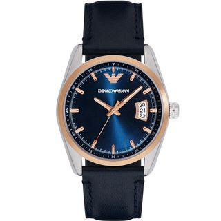 Emporio Armani Men's AR6123 'Sport' Blue Leather Watch