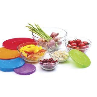 Multicolored Glass Serving and Storage Bowls (Pack of 5)