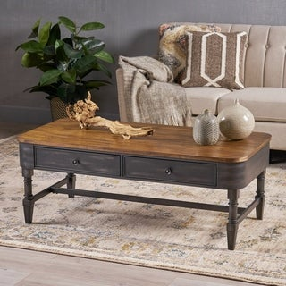 Mirelle Antique Wood Coffee Table by Christopher Knight Home