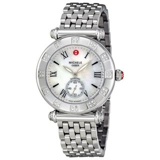 Michele Women's MWW16A000048 'Caber Atlas' Diamond Stainless Steel Watch