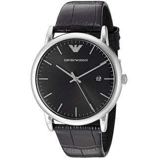 Emporio Armani Men's AR2500 'Dress' Black Leather Watch
