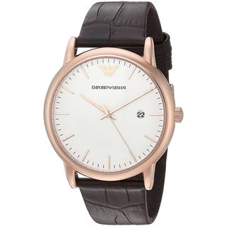 Emporio Armani Men's AR2502 'Dress' Brown Leather Watch