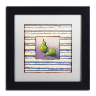 Rachel Paxton 'Pears and Stripes' Matted Framed Art