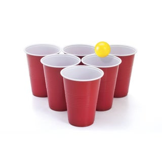 Blue/Red Plastic Beer Pong Starter Set