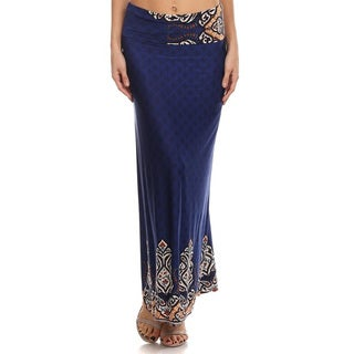 Women's Paisley Multicolored Maxi Skirt
