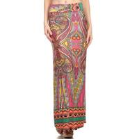Women's Multicolored Paisley Maxi Skirt