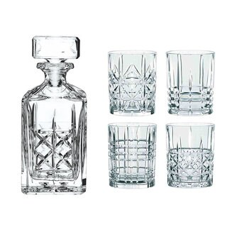 Clear Crystal 5-piece Whiskey Set by Nachtman Highland