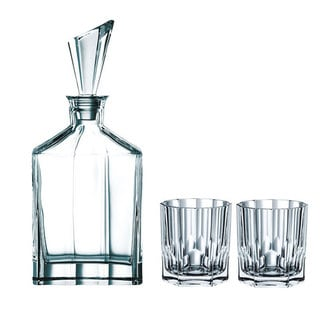 Nachtmann Aspen Decanter Set With Stopper and Whiskey Tumblers