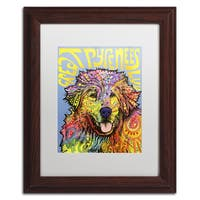 Dean Russo 'Great Pyrenees' Matted Framed Art