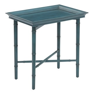 Havenside Home Galveston Folding Serving Tray (Option: Blue)
