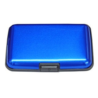 Premium Aluminum Wallet (Option: Blue)