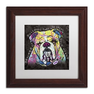 Dean Russo 'Bulldog Heart' Matted Framed Art
